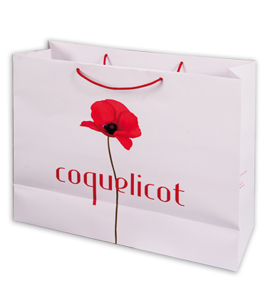 sac shopping coquelicot